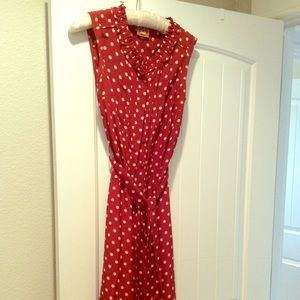 Tory Burch Red and Ivory Dress